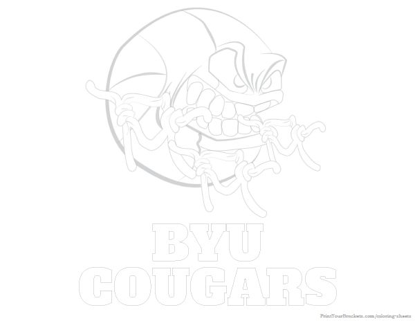 181 best college basketball coloring pages images on for Byu coloring pages