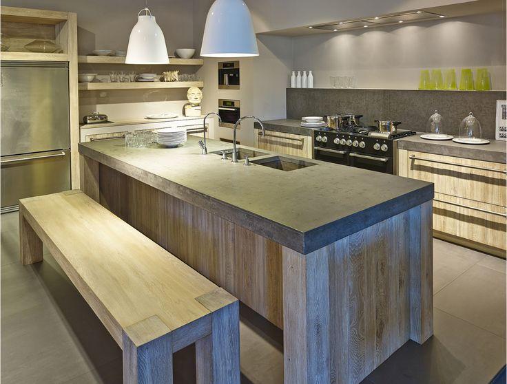 Meer dan 1000 idee n over industrieel meubilair op pinterest palleten pijp meubels en - Center meubilair keuken ...