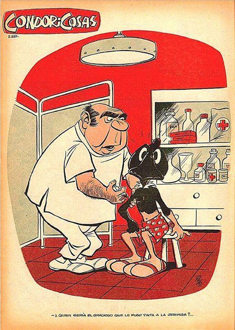 Doctor ayudeneme. Condorito. Chilean cartoon. Pepo.