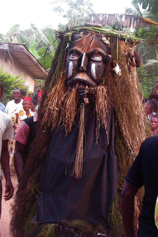 Akpoko spirit: This is the uliest of all masquerades...like the Ijele, this masquerade is lead by the older adults of the masquerade cult. It is among the most powerful masquerades of all time...ugly, tragic to behold, and has supernatural powers.