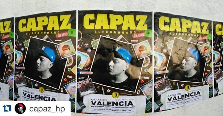 #Repost @capaz_hp with @repostapp.  Este viernes (15 de Abril) estamos en Valencia dándole duro al micrófono en Sala Agenda Club @agendaclubvlc SUPERHUMANO en Concierto! #capaz #superhumano #concierto #Valencia #agendaclub
