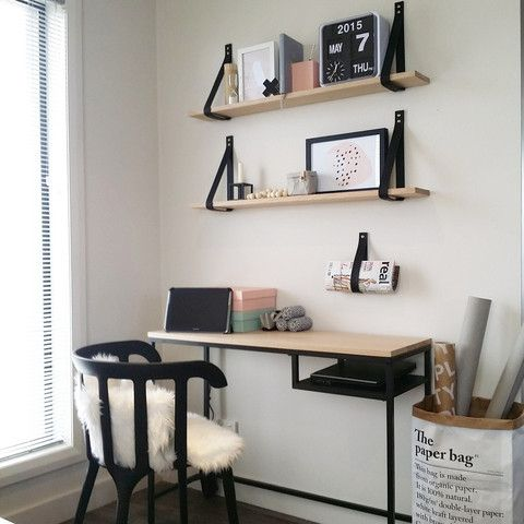 The shelf set includes two leather straps, screw and wall plugs to create your very own DIY custom shelf. All you need to do is visit your local hardware store