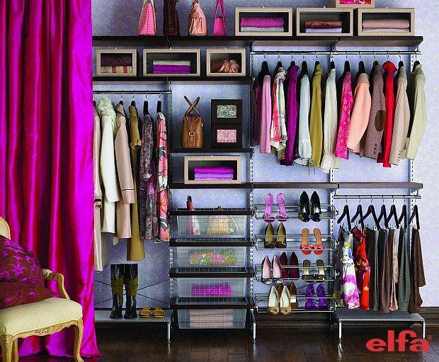 Garderoba Elfa: Closet Spaces, Idea, Dreams Closet, Cozy Reading Nooks, First Apartment, Curtains Rods, Building A Closet, Closet Organizations, Organizations Closet