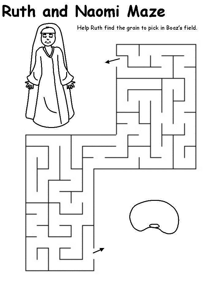bible coloring pages on ruth - photo#35