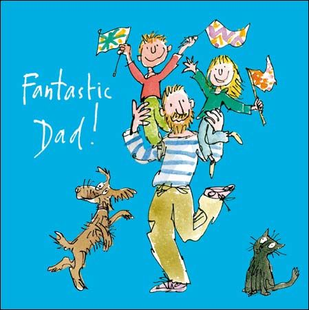 What better way to make Dad's day extra special than with a #FathersDay card by Sir Quentin Blake ?