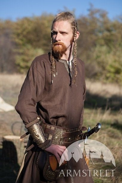 DARK BLUE Viking Tunic Eric the Scout Ready to Ship by armstreet