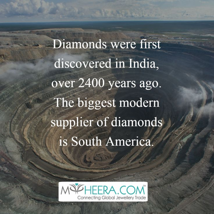 Diamond were first discovered in india, over 2400 years ago! #myheera #diamond #history