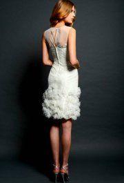 Suzy White rövid esküvői ruha