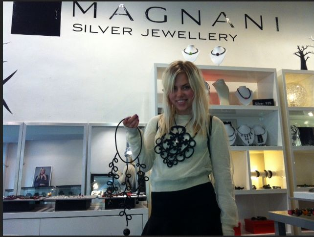 Josefine selecting some pieces for Robert Rydberg's Swedish ELLE photoshoot.