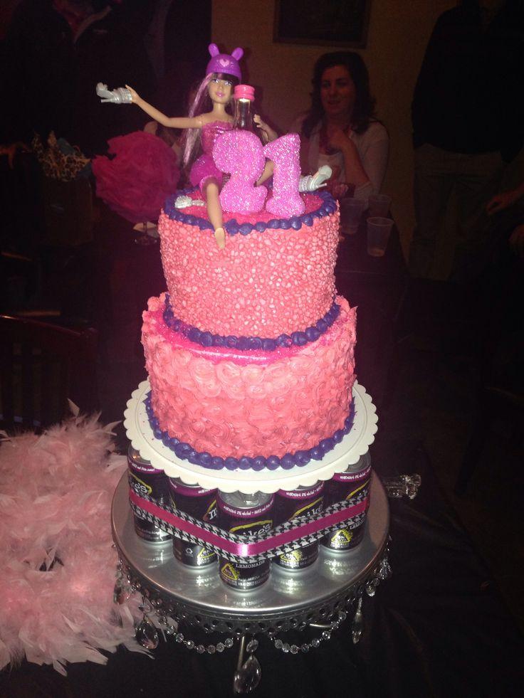 Excellent Drunk 21St 2 Tier Birthday Cake Slubne Suknie Info Funny Birthday Cards Online Overcheapnameinfo