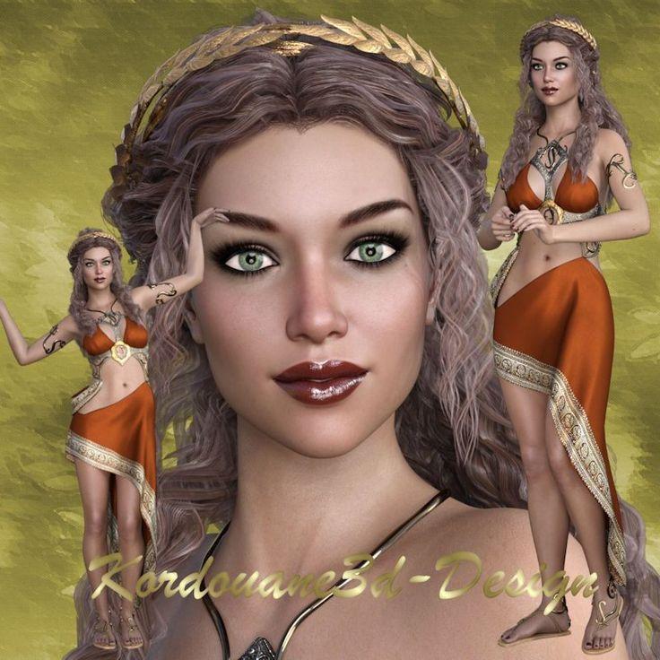 Kassandra : Tube femme Grèce antique