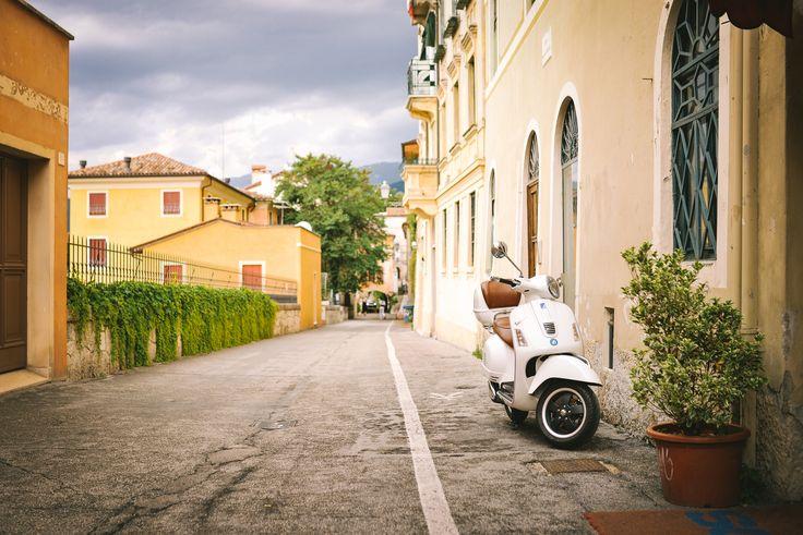 Rue de Bassano del Grappa, Bassano del Grappa Vicence, Italie