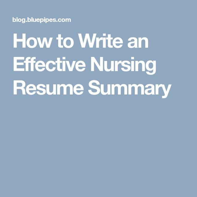 The 25+ best Nursing resume ideas on Pinterest Registered nurse - nurses resume