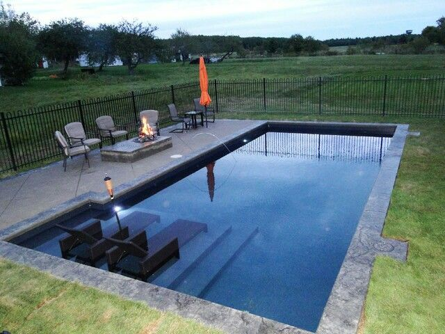 17 best images about pool dreams on pinterest shipping for Pool design with tanning ledge