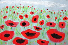 Spot of Color: 2nd Grade Poppies in Perspective
