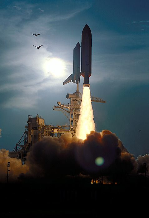 The launch of STS-64.