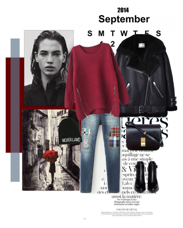 """""""Goodbye September 2014..........."""" by style-stories ❤ liked on Polyvore featuring Acne Studios, CÉLINE, Alexander Wang, Chicnova Fashion and Disney"""