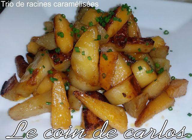 Le coin de Carlos: Trio de racines caramélisées (Panais, rutabagas et...