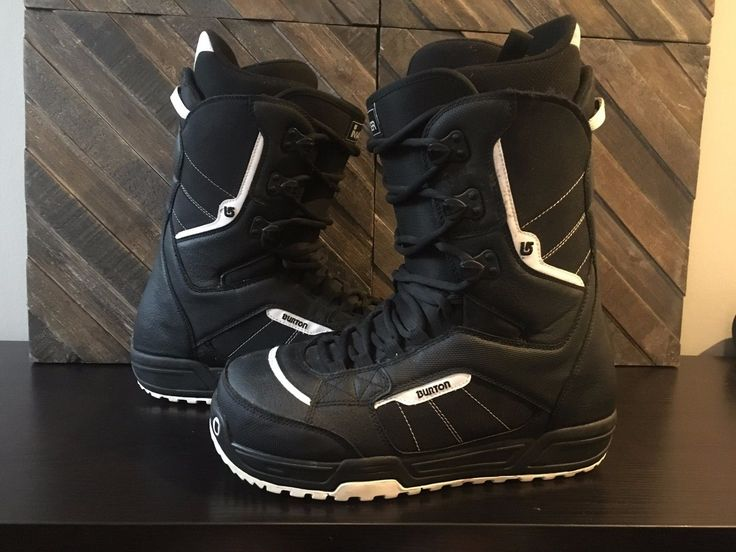 Used Burton Snowboarding Boots Size 12 Black and white Invader
