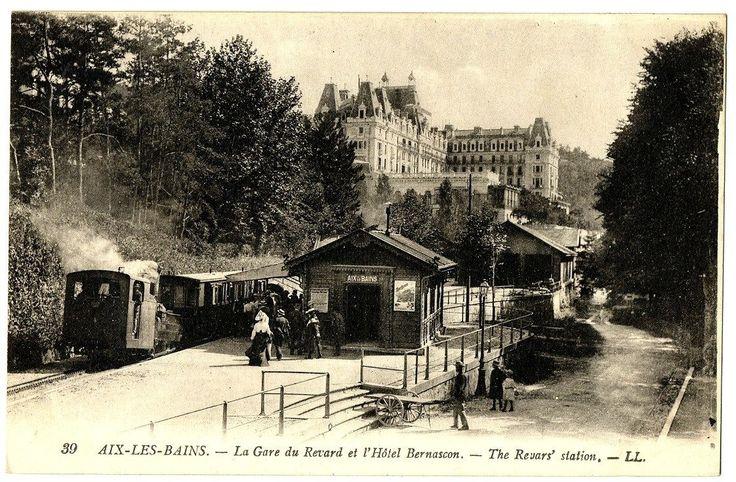 CPA 73 Savoie AIX LES Bains LA Gare DU Revard ET L' Hôtel Bernascon   eBay