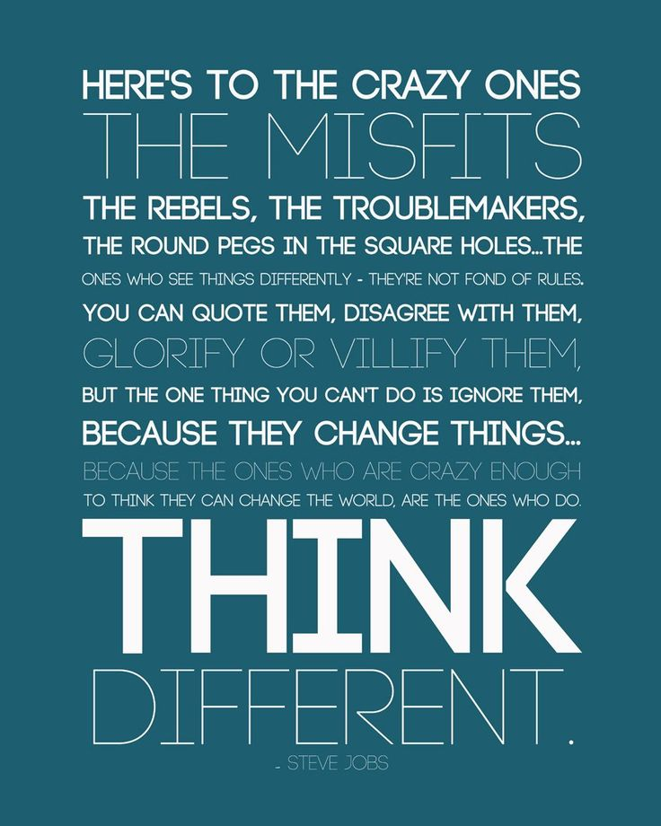 Motivational Poster - Steve Jobs Apple Founder - Think Different -  Inspirational Quote