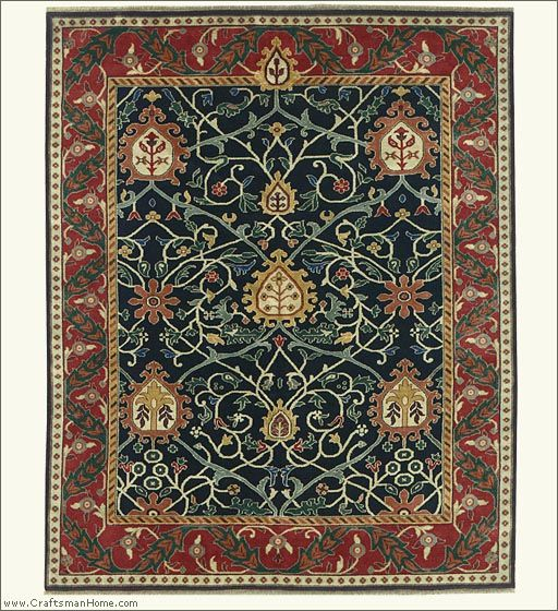 The Black Tree Rug From Persian Carpet Designed By William Morris Embos