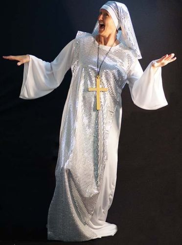 Musical-Hen-Night-FABULOUS-SEQUINED-NUN-CROSS-DELORES-SISTER-ACT-And-Cross