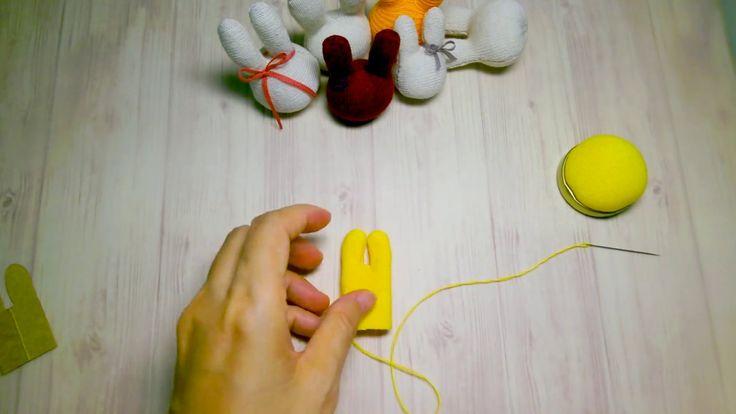 小兔頭DIY教學(襪子娃娃) Grace--sock bunny DIY (Free DIY tutorial) https://www.facebook.com/gracehandmade2/