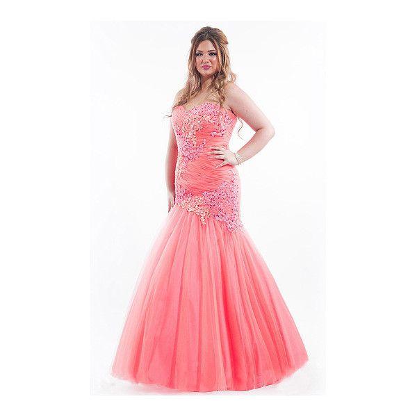 Tulle Empire Sweetheart Sleeveless Floor-length Prom Dresses - by... (195,840 KRW) via Polyvore