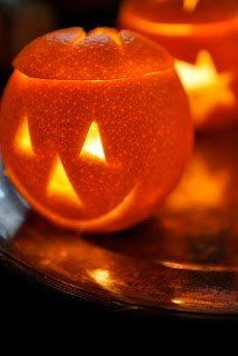 How to make lanterns from an orange on Halloween