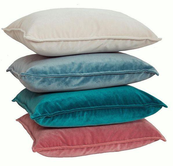 Sammetskuddar. Vit, blå, turkos, rosa. 45x45, 62x62, sammet, kudde, kuddar, dekoration, inredning, möbler, detalj.