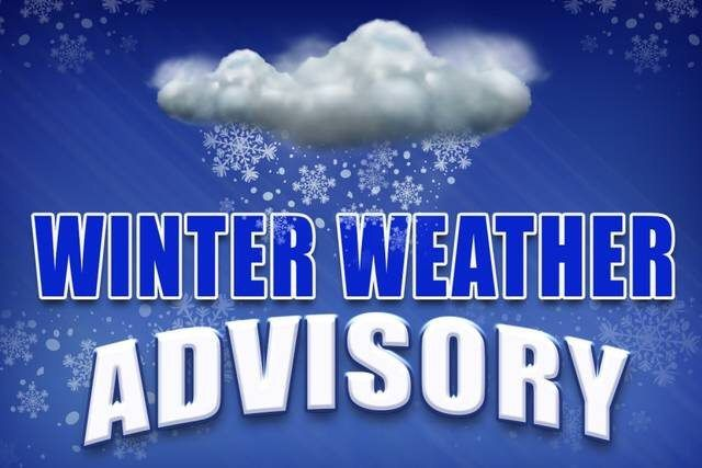 Our area is under a winter weather advisory tonight and tomorrow with the possibility of rain, freezing rain, snow and ice between midnight until the early morning tomorrow. Please make sure your heat is set to at least 65 degrees to help prevent freezing pipes. We ask that you use extreme caution on stairs, sidewalks, and parking lots while there is still ice on the ground.