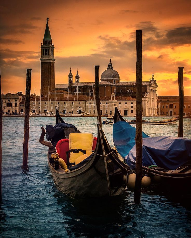 After sunset . Venice Italy