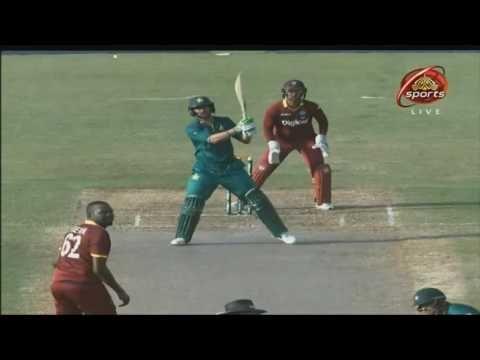 shoaib malik three consective sixes to benn pak vs wi 2nd odi 2016