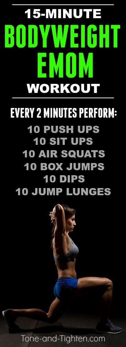 15-Minute bodyweight EMOM you can do at-home with no equipment required! Click…
