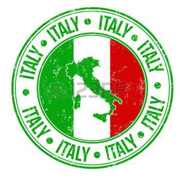 carte drapeau italie: timbre en caoutchouc grunge avec l'Italie drapeau, et le mot Italie écrit à l'intérieur, illustration vectorielle Illustration