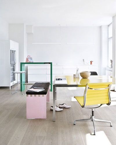 pastels in the officeWorkspaces Offices, Heidi Lerkenfeldt, Work Spaces, Interiors Design, Offices Ideas, Colors Workspaces, Offices Workspaces, Interiors Decor, Pastel Offices