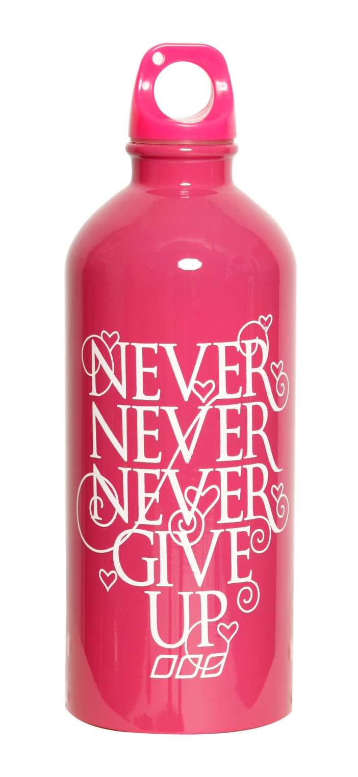 Never Give Up Water Bottle from the Lorna Jane March 2012 Collection, Get The Look At www.lornajane.com