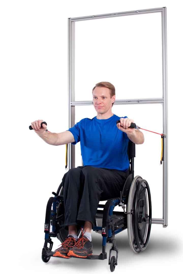 Wheelchair exercise machine rehabilitation gym workouts