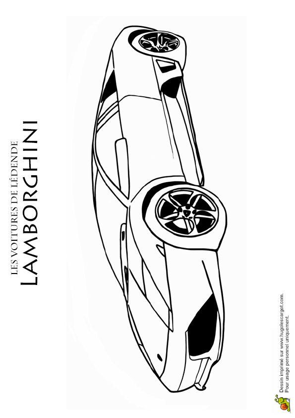 Dessin d une belle lamborghini colorier coloriages de - Coloriage de belle voiture ...