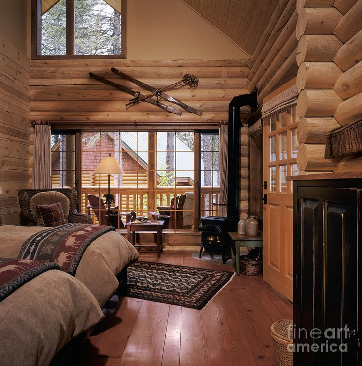 Best Log Cabin Interiors Images On Pinterest Log Cabin