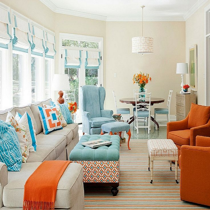 Bright Orange Living Room Accessories: 80 Best Images About COLOR: Orange Home Decor On Pinterest