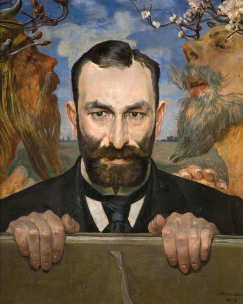 """Jacek Malczewski, Portrait of Feliks Jasieński 1903  / Feliks Jasieński—critic, writer and collector of art, whose penname was """"Manngha"""". In 1920 he donated his collection of artworks connected with Japan to the National Museum in Kraków."""