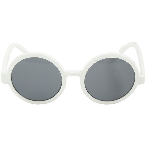 Twenty One Pilots White Round Sunglasses Hot Topic ($13) ❤ liked on Polyvore featuring accessories, eyewear, sunglasses, round sunglasses, round frame glasses, white sunglasses, plastic glasses and plastic sunglasses