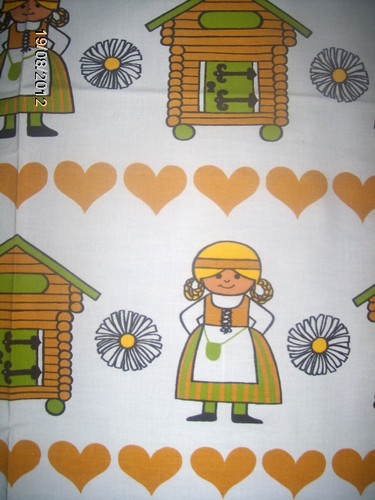 Tampella Finland vintage fabric cute