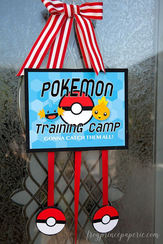 Pokemon Inspired Printable Training Sign- INSTANT DOWNLOAD