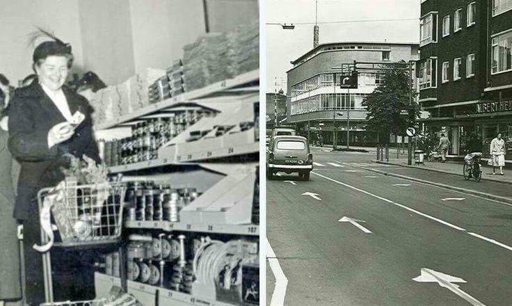 De eerste AH zelfbedieningszaak van Nederland stond in Schiedam aan de Oranjestraat op de hoek van de Lange Nieuwstraat (de winkelwagentjes waren toen nog een stuk kleiner). Deze werd op 29 februari 1952 geopend door de echtgenote van burgemeester Peek.