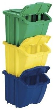 Recycling Center - traditional - kitchen trash cans - Target