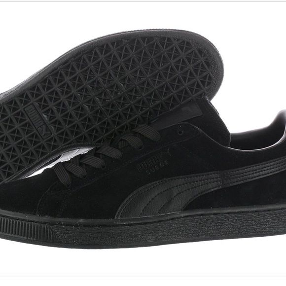 All Black Pumas All black been used but in good condition Puma Shoes Sneakers