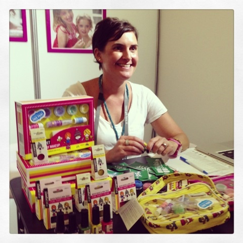 Meet Georga - she makes a lovely non-toxic Australian made range of play makeup/face paint - there's even cute stencils for leaving colourful & creative marks! We have some on the way... #purepoppet #toys @reedgiftfairs